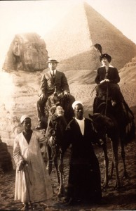 Edwin and Gertrude Thanhouser (a/w/p) in Egypt, c. 1920, PC