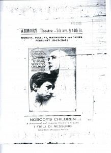 Ad with Leyda Gys in Nobody's Children (1926). NYSA