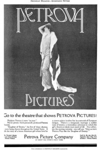Petrova Pictures ad. Photoplay Jan 1918. PD
