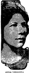 Anzia Yezierska (w) Lima News, July 3rd, 1922. PD