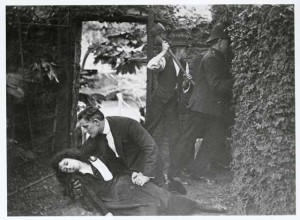 Lottie Lyell and Boyd Irwin in The Church and the Woman (1917) Caroline Puliese (prod). AUC