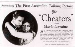 Advertisement for The Cheaters (1930) Paulette McDonagh (d/w). AUC