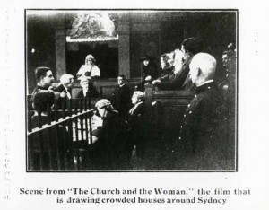 Scene from The Church and the Woman (1917) Caroline Pugliese (prod). AUC