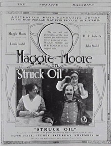 Advertisement in Theatre Magazine for Struck Oil (1919) Caroline Pugliese (prod). AUC