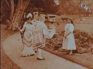 May Clark (a) (Alice) and Margaret Hepworth (a) (Queen) in (i) Alice in Wonderland (/i) (1903). BFI