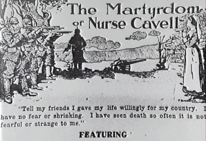 Advertisement for The Martyrdom of Nurse Cavell, Agnes Gavin (w) 1916. AUC