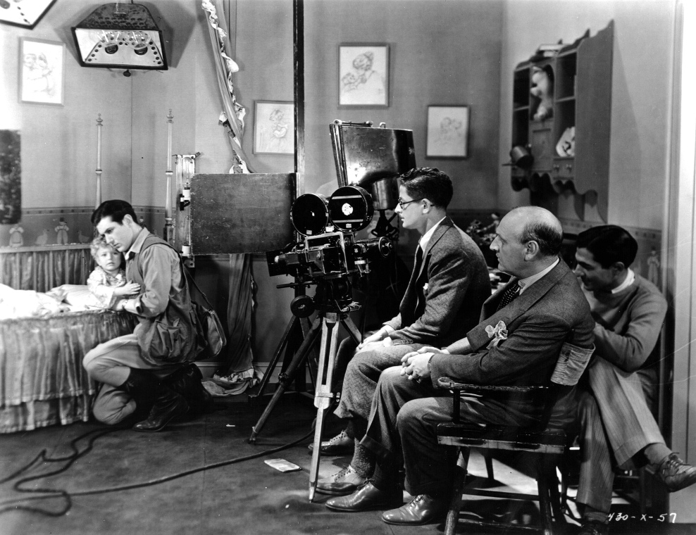 Film set, with father and baby, The Single Standard Josephine Lovette (w). PC