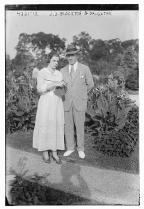 Marian Constance Blackton with her father, J. Stuart Blackton. USW.