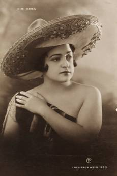 Mimi Derba, postcard, 1925. MS