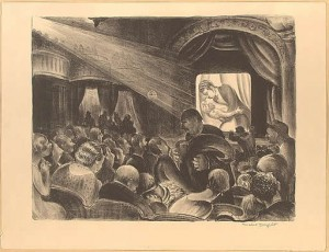 Theater interior, lithography by Mabel Dwight, 1928. LoC