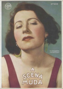 "Carmen Santos on the cover of ""A Scena Muda"" 1931"
