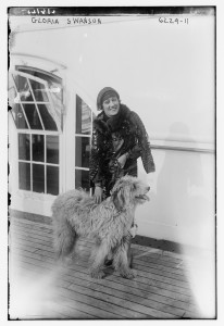 Gloria Swanson and dog. USW