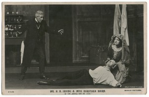 "H.B Irving & Dorothea Baird in ""Dr. Jekyll and Mr. Hyde"", Beagles Postcard"