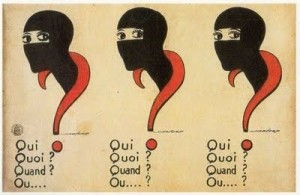 Poster for Les Vampires (1916), Musidora as Irma Vep