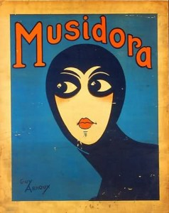 Poster by Guy Arnoux for Les Vampires (1916), Musidora as Irma Vep