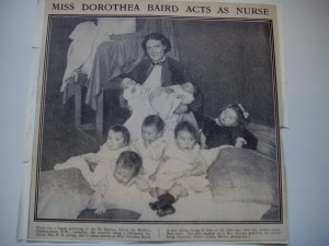 Dorothea Baird in Daily Mirror, Jan. 11. 1911. VATPA