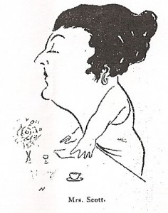 Encarnacion Rosa Scott, caricature from 'The Cinema', September 21, 1922, p38.