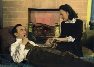 Ronald Liu and Fe Fe Li in Back Street (1947) produced and directed by Esther Eng. PC