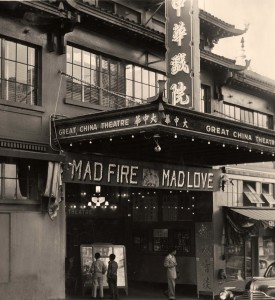 Mad Fire Mad Love premiere at San Francisco's Great China Theatre, February 1949. PC