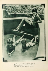 "Fanchon Royer (p/o) and her two sons in a 1928 ""at-home"" publicity photo for Screenland."