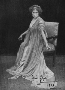 "Elinor Glyn in stage production of ""Three Weeks,"" London 1908. PC?"