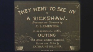 Screenshot They Went To See in a Rickshaw (1919), edited and titled by Katharine Hilliker. PC