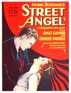 Poster for Street Angel (1928).