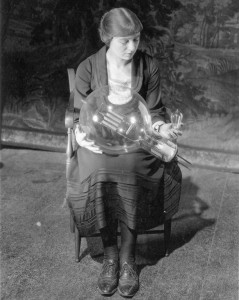 Maude Adams, with incandescent lamps, 1922. Museum of Innovation & Science