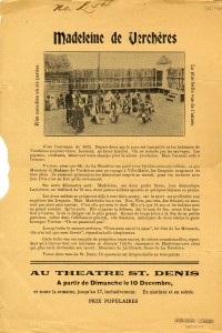 Flyer (in French) for the film Madeleine de Verchères (1922), Emma Gendron (w). CAQ