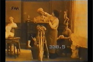 Bernhardt in her atelier, Sarah Bernhardt at Home (1915). ATF-CFAL