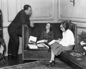 Alma Reville (a/w/e/o) and Alfred Hitchcock at work, c. 1930. BFI