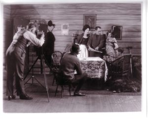 On the set of A Race for Ties (1929). Thunder Bay Historical Museum Society