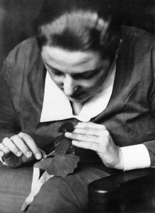 Lotte Reiniger with paper doll. PC