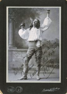 "Edwin Thanhouser as Capt. La Rolle in play ""Under the Red Robe"" (1897-98). PC"