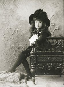 Gertrude Homan as Little Lord Fauntleroy in 1892. PC