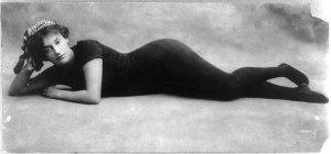 Annette Kellerman (a/d/w) in swimsuit, LoC