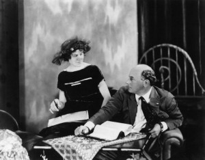Jeanie Macpherson (w/d/a) with Cecil B. DeMille. BYU
