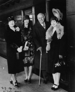 Jeanie Macpherson with Cecil and Constance DeMille and daughter Cissy, BYU