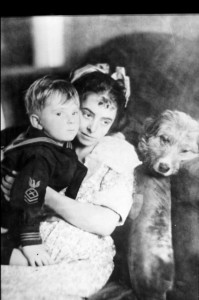 Dorothy Davenport Reid (a/p/d) w/ son and dog. PCMA