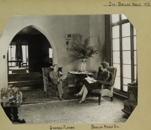 Belulah Marie Dix (w) reads script of The Country Doctor (1927) w/ husband in their Hollywood home NYPL