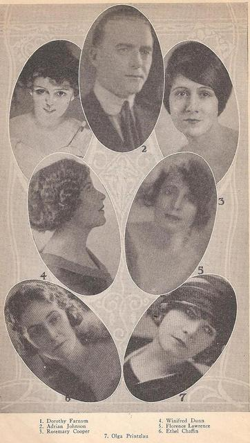 The Truth About the Movies Dorothy Farnum (a/w), Winifred Dunn (w/e), Florence Lawrence (p/a), Olga Printzlau (w), Ethel Chaffin, Rosemary Cooper , PCRK