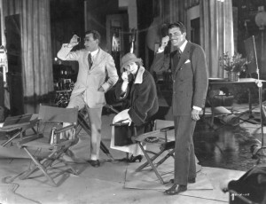 Publicity photo Three Weeks (1924) with Alan Crosland, Elinor Glyn (w/a/d/p/o), Cedric Gibbons. PCJY
