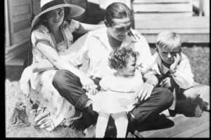 Dorothy Davenport Reid (a/p/d) with Wally Reid and children. MOMA