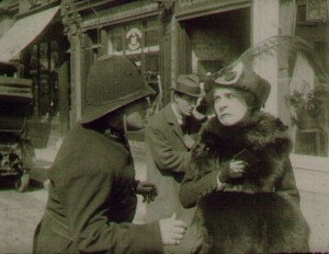 Frame enlargement Florence Turner (a/p/d/o) Daisy Doodad's Dial (Turner Films, 1914). USW