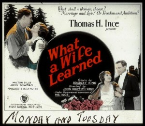 Slide What a Wife Learned (1923) Bradley King (w), MoMI