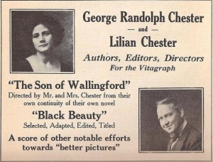 Mr. and Mrs. George Randolph Chester (d/w/a) ad Wid's Year Book 1921