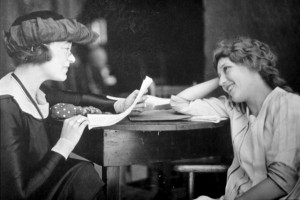 Mary Pickford (a/p/w/o) with Frances Marion (p/d/w/a). PC