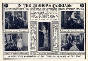 Ad In the Bishop's Carriage (1913) Mary Pickford (a/p/w/o). PC