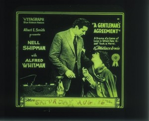 Slide A Gentleman's Agreement (1918) Nell Shipman (a), PCJY