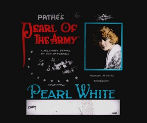 Slide Pearl of the Army (1916) Pearl White (a), PC